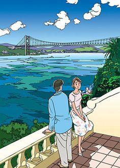 [わたせせいぞう]Heart Cocktail Art And Illustration, Japanese Illustration, Art Sketches, Art Drawings, Japanese Aesthetic, Manga Art, All Art, Cute Art, Painting & Drawing