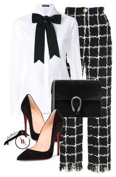 Headed to Work by spivey-adrian on Polyvore featuring polyvore moda style Dolce&Gabbana Christian Louboutin Gucci fashion clothing
