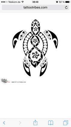 Maori turtle pikorua Tattoo