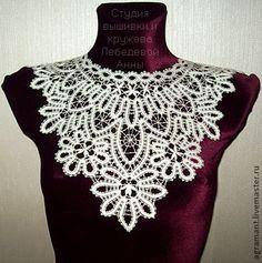Crochet Collar, Lace Collar, Crochet Top, Russian Fashion, Russian Style, Bruges Lace, Point Lace, Antique Lace, Bobbin Lace