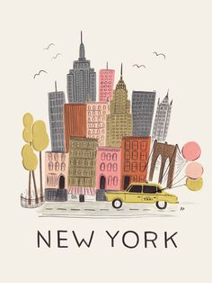 One day, in the dark distant future, this would be amazing in a kid's room. Exclusive NYC Art Print from Pink Olive - $30.00