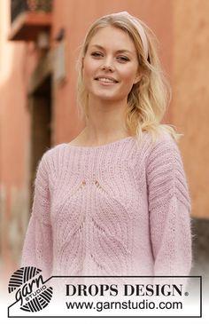 Women - Free knitting patterns and crochet patterns by DROPS Design Sweater Knitting Patterns, Easy Knitting, Knitting For Beginners, Knitting Yarn, Knit Patterns, Drops Design, Crochet Design, Drops Patterns, Knitwear Fashion