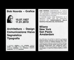 brandocorradini:  Bob Noorda 19272010 | Design