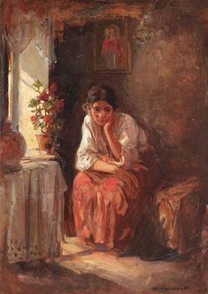 Nicolae Vermont- artistul lunii Februarie 2019 :: Nicollhellen Classic Paintings, Beautiful Paintings, Pencil Art Drawings, Art Sketches, History Of Romania, Perspective Art, Art Watch, Pastel Art, Portrait Art