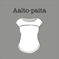 Kangaskapina, Aalto-paidan kaava Clothing Patterns, Sewing Patterns, Crochet Patterns, Sewing Clothes, Diy Clothes, Draping Techniques, Sewing Tutorials, Sewing Ideas, Dressmaking