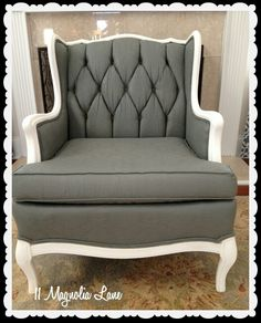 How To Paint Upholstery Fabric And Transform A Chair, Chalk Paint, Painted  Furniture, Reupholster, After Four Thin Coats The Grey Had Covered  Beautifully