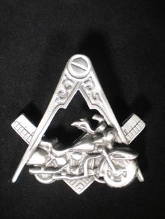freemasons, widow's sons,shriner's corp.,compass and square,,vest badge