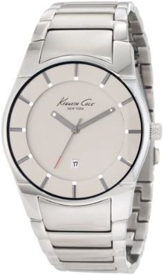 Men's Wrist Watches - Kenneth Cole New York Mens KC3891 Quartz Analog Stainless Steel Bracelet Watch -- Click image to review more details.