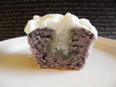UBE MACAPUNO - ube cupcake w/ macapuno filling & whipped cream macapuno topping