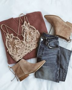 Add a little sweetness to your day with the Free People Adella Nude Lace Bralette! Crochet lace shapes this triangle bralette with crisscrossing straps. Mode Outfits, Trendy Outfits, Fashion Outfits, Fashion Tips, Fashion Trends, Womens Fashion, Size 10 Outfits, Chic Outfits, Casual Outfits For Girls