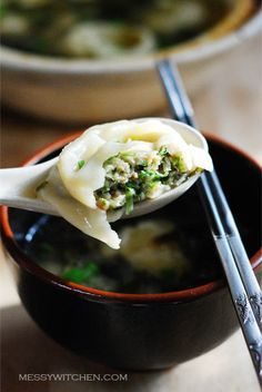 Recipe: Mandu Doenjang Guk – Korean Fermented Soybean Paste Soup With Dumplings