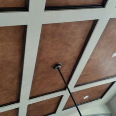 Faux leather finish on ceiling. Decor, Doors, Ceiling Finishes, Ceiling, Door Handles, Faux Finish, Home Decor, Faux