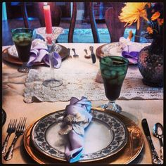@allpropartyconsultantss photo: Easter dinner place setting. Set up provided by all pro party consultants.