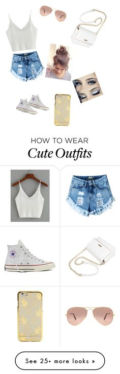 """Summer outfit"" by alexalovebug on Polyvore featuring Converse and Ray-Ban"