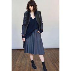 #mpatmos #indigo #shearling #leather #cashmere #pinstripe #ootd #fallisintheair