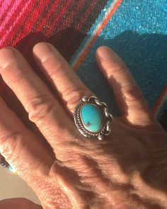 A personal favorite from my Etsy shop https://www.etsy.com/listing/384986840/silver-and-turquoise-ring-american