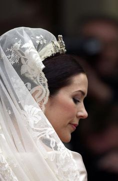 Crown Princess Of Denmark At Her Wedding In Copenhagen Cathedral