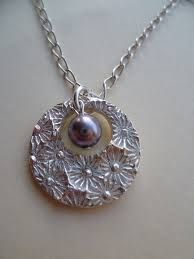 silver metal clay with pearls