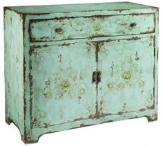 Morgan Cabinet (would have to paint this. . . or have it painted if it would fit by the sofa. . . wish it wasn't this color. . .