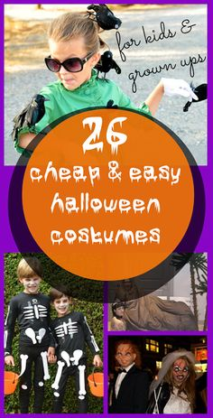 I've hunted down 26 of the best cheap and easy Halloween costumes for kids and adults. Ranging from scary to not spooky in the slightest! | A Thrifty Mrs