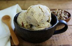 Black walnut ice cream with brown sugar and cinnamon
