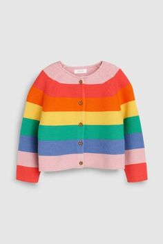 """Buy Next Cotton Cardigan, The """"Next"""" Look for Kids online OTTO - babys Cardigan Bebe, Cotton Cardigan, Striped Cardigan, Rebecca Minkoff, Rainbow Cardigan, Kids Online, Uk Online, Colourful Outfits, Kids Fashion"""