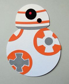 Star Wars Inspired Sphero Bb-8 Robot Paper Die Cut Paper Doll Scrapbook Embellishment