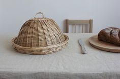 【风物札记】手工编织 原色柳编圆形食物面包罩盖 茶点晾晒托盘
