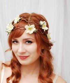 Boho chic bride hair