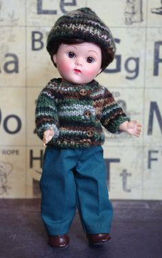Warm for Winter...3 PC handknit outfit for #Vogue#Ginny dolls by KarmelApples