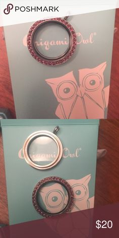 Origami Owl locket! Origami Owl twist on base and face. Large locket with amethyst Swarovski crystals. Jewelry Necklaces