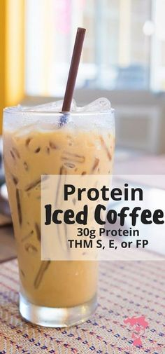 Iced Protein Coffee: THM:S, E, or FP - Fit Mom Journey What could be better than a refreshing iced coffee that packs a punch of protein + powerhouse collagen - without changing the taste? This Iced Protein Coffee is THM S, E, or FP or doesn't disappoint! Thm Recipes, Shake Recipes, Healthy Recipes, Drink Recipes, Fast Recipes, Yummy Drinks, Healthy Drinks, Healthy Snacks, Gourmet