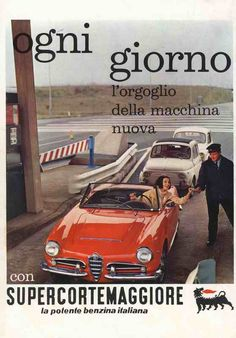 20 Incredible Vintage Alfa Romeo Ads And Posters Vintage Italian Posters, Vintage Advertising Posters, Car Advertising, Vintage Advertisements, Vintage Ads, Old Sports Cars, Sport Cars, Alfa Romeo Logo, Fuel Truck
