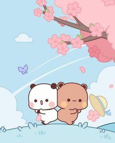 Cute Cartoon Pictures, Cute Cartoon Drawings, Cute Love Cartoons, Cute Animal Drawings, Chibi Cat, Cute Chibi, Cat Wallpaper, Cute Anime Wallpaper, Cute Anime Cat