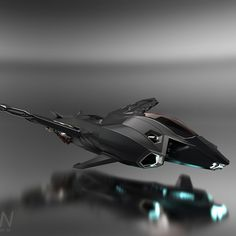 I took an amazingly fun class in ship design taught by Gurmukh Bhasin over the past few months. In that time I designed a ship geared towards speed and stealth. The 450i is a sleek and dangerous single pilot ship. It packs a punch sporting two machine guns, one on each side of the cockpit and 6 missiles, 3 on each side. Most effective in packs this vehicle can cause serous damage to opposing ships.