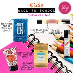 """It's BACK TO SCHOOL time!  This """"survival kit"""" is great for kids and they would…"""