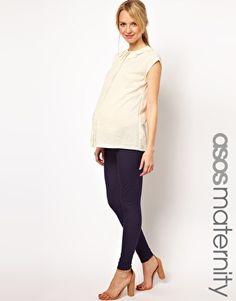 ASOS Maternity Legging in Denim Look