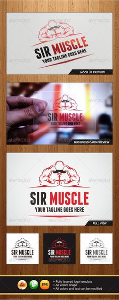 Buy Sir Muscle Logo by changyik on GraphicRiver. An Amazing Multipurpose Sir Muscle logo template highly suitable for Gym, Fitness, or any other business related. Gym Franchise, Fitness Logo, Gym Fitness, Bodybuilding Logo, Gorilla Tattoo, Bussiness Card, Muscle Nutrition, Vector Shapes, Coreldraw