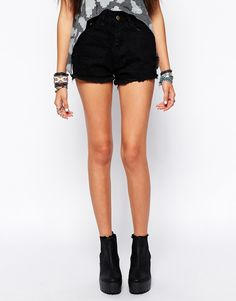 Image 4 of Your Eyes Lie High Waisted Denim Shorts