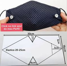 Fabric Crafts, Sewing Crafts, Sewing Projects, Diy Crafts, Sewing Hacks, Sewing Tutorials, Dress Tutorials, Easy Face Masks, Creation Couture