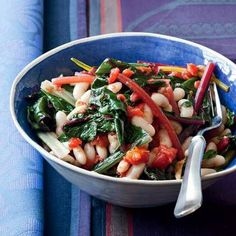 Quick White Bean Stew with Swiss Chard and Tomatoes Recipe : Cooking.com Recipes