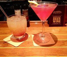 SYDNEY'S COSMO Outback Steakhouse Copycat Recipe 1 Shot Orange Vodka 1/2 Shot Cointreau 1/2 shot Mango Syrup 4 Shots Cranberry Jui...