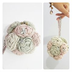 Bouquet of Rosettes Purse ~ free pattern
