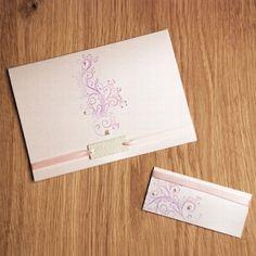 """DIY Hochzeitskarten """"Tree of Love"""" mit Perlherzen"""