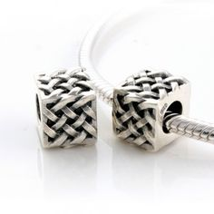 STERLING SILVER CUBE CHARMS - Tibet Silver Charms - Charms - LYDIA JEWELLERY