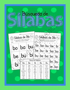 Búsqueda de Sílabas-A Spanish Syllables Auditory Activity from Growing Bilingual Learners on TeachersNotebook.com (82 pages)