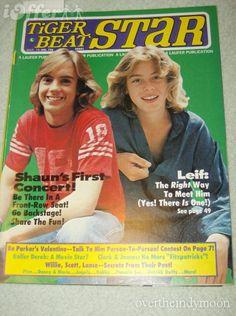 Shawn Cassidy with Leif Garrett .yep had these plastered all over my bedroom walls Parker Stevenson, Leif Garrett, 1980s Kids, Scott Baio, Tiger Beat, Star Magazine, Teen Celebrities, My First Crush, Those Were The Days