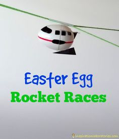 Create Easter egg rockets from plastic eggs. Then, race them two different ways: blast off to the sky or launch them back down to Earth.