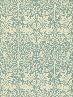 Buy Slate / Vellum, Morris & Co. Brer Rabbit Wallpaper from our Wallpaper range at John Lewis & Partners. Cottage Wallpaper, Green Wallpaper, Kids Wallpaper, Pattern Wallpaper, Wallpaper Backgrounds, Wallpaper Ideas, William Morris Wallpaper, Morris Wallpapers, Buying A Rental Property