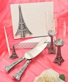 Eiffel Tower design wedding day accessories  #EiffelTower